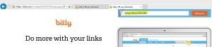 короткая ссылка после вставки bit.lyв поисковой строке браузера