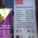 Часы работы Клайдсдейл Банка (Clydesdale Bank) в нашем городе
