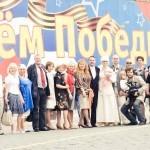 После венчания на Красной площади. 16 мая 2010