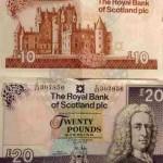 Шотландские фунты Королевского Банка Шотландии (Royal Bank of Scotland - RBS)