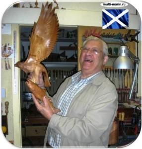 мастера резчики по дереву-Шотландия-Джек Фолкнер - Jack Falconer Scotland