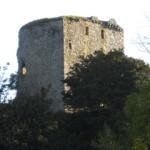 Вид на замок Драмин с дороги