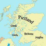 политическая карта до образования Шотландии