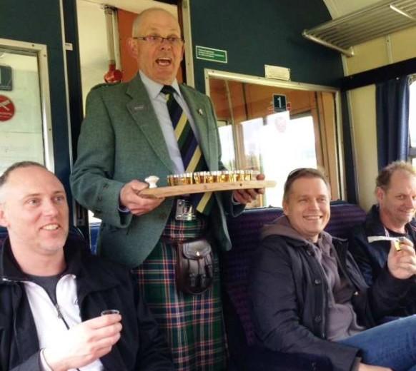 Дегустация виски в фестивальном поезде Spirit of Speyside