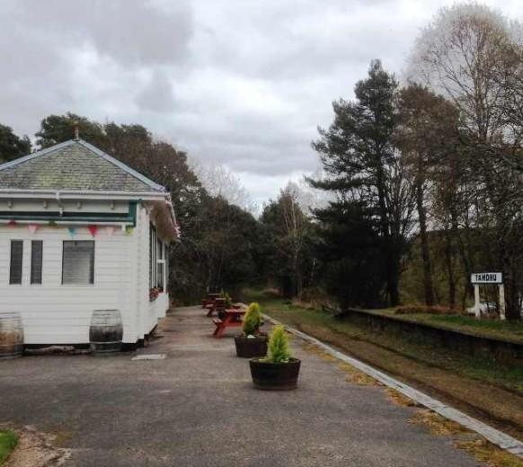 Бывшая железнодорожная станция Тамдю — действо для посетителей Tamdhu Distillery начиналось именно здесь