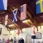 Флаги стран-участниц 22 Чемпионат Овсяной Каши в Шотландии