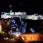 Эдинбургский замок рождественской порой
