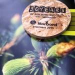 Образец ОСП плиты - 30 лет производству Norbord в Шотландии