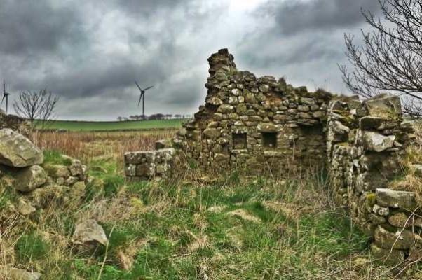 Руины бывших дворовых построек