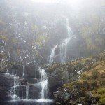 Водопады Black Falls в тумане - river E