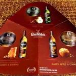 Наглядное изображение вкусовых нот трех из четырех тестируемых виски Гленфиддих
