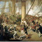 Картина Дениса Дайтона 1825 г - смертельное ранение адмирала Нельсона